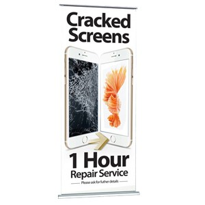 Large Pull-Up Banners For Phone Repair and Unlocking Services